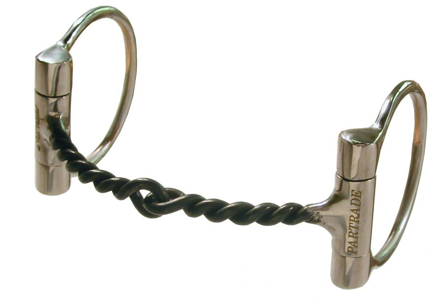 D Ring Snaffle Bit With Curb Chain Sweet Iron Twisted Bit