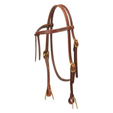 Pre-Oiled Herman Oak Futurity Bridle - Lace ends