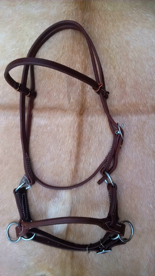 OILED Handmade USA Leather / Rope Side Pull