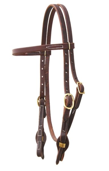 Oiled Harness Leather Bridle - Quick change ends