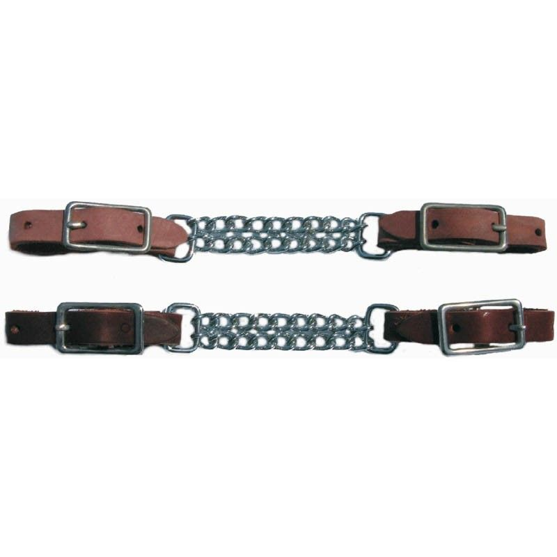 Leather Chain Curb - Russet or Mahogoney