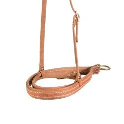 Natural Leather Cavesson Tie-Down w/ FREE tiedown strap