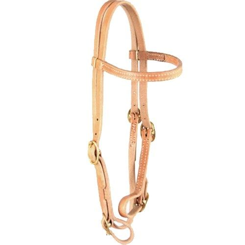 Natural Leather Herman Oak Bridle - Buckle ends