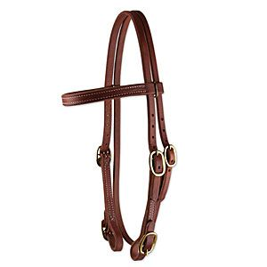 Oiled Harness Leather Bridle - Buckle ends