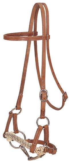 Leather / Rope Side Pull with Snaffle