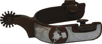 Ornate Rowelled Barrel Race Spurs