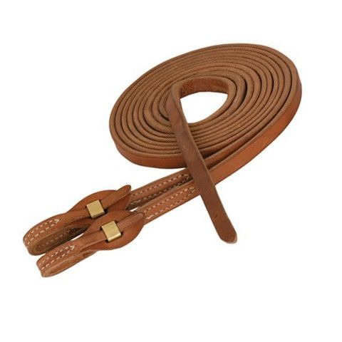 Natural Leather Split Reins -  Quick Change - 5/8in