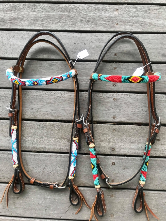 Beaded Brow Band Bridle