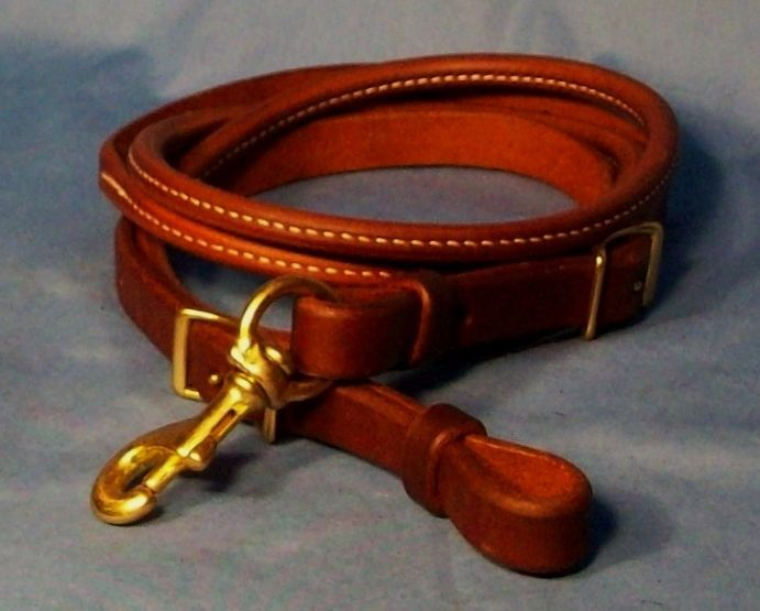 Premium Rolled Leather Competition Reins - OILED