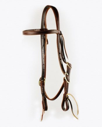 Double Stitched Harness Leather Browband Bridle