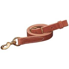Natural Harness Leather Tie-Down Strap