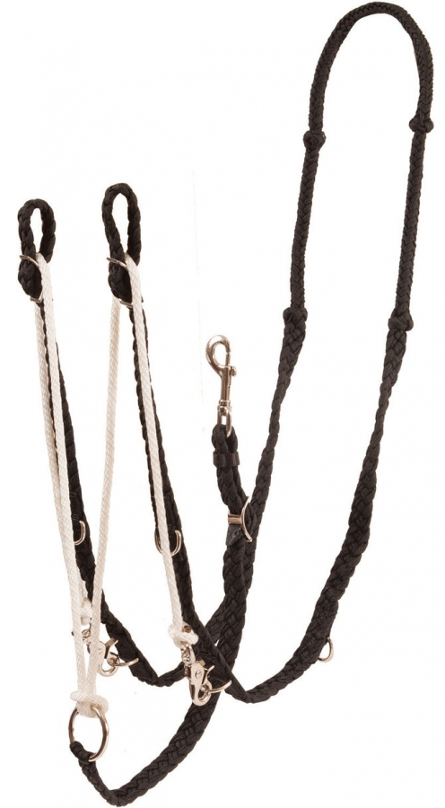 German Martingale - Knotted One Piece Nylon Reins